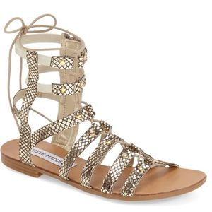 Steve Madden Gladiator Sandals Sparra - Gold